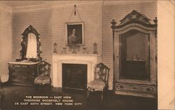 The Bedroom - East View Theodore Roosevelt House Postcard