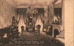 The Parlor, Theodore Roosevelt House 287 East 20th Street Postcard