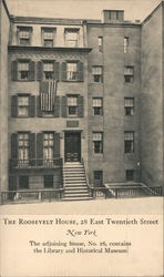 The Roosevelt House, 28th East Twentieth Street Postcard