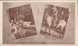 Camp Marwedel Boy's Club water sports and horseback riding Postcard