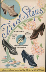 Tred-Steps Shoes Postcard