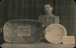 Dionne quintuplets basket and basin and Madam Legros' Postcard