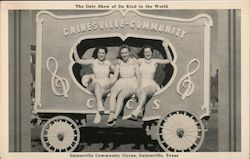 Gainesville Community Circus - The Only Show of its Kind Postcard