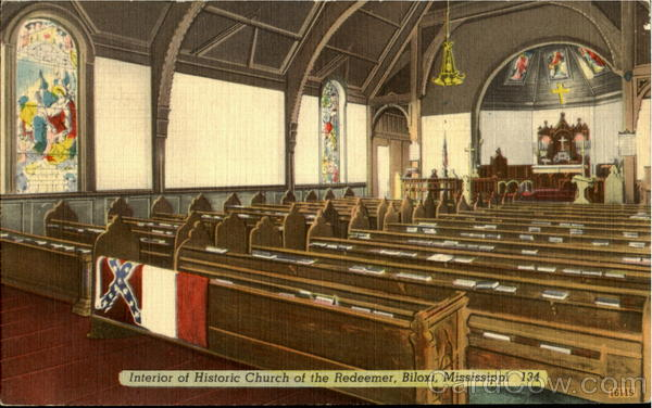 Interior of Historic Church of the Redeemer Biloxi Mississippi