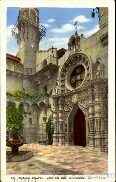 St Francis Chapel Mission Inn Riverside Ca
