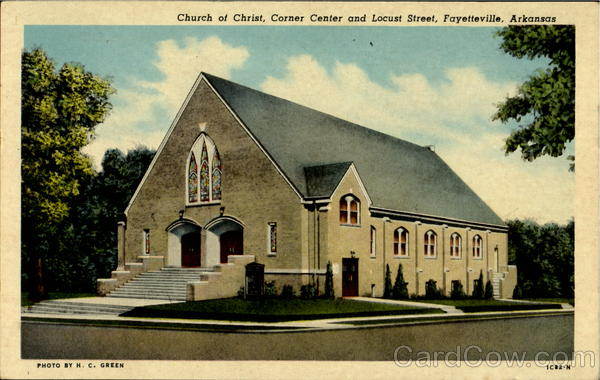 Church Of Christ, Corner Centre And Locust Street Fayettevile Arkansas