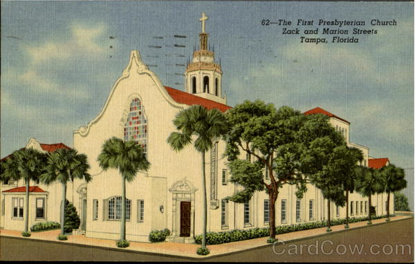 62 - The Presbyterian Church Zack and Marian Streets Tampa Florida