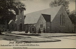 First Bapist Church Postcard