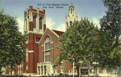 O.P. 9-First Baptist Church Postcard