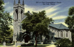 O.P. 8-First Congregational Church Postcard