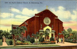 S-96-St. Psul's Catholic Church Postcard