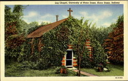 Log Chapel, Universuty of Notre Dame Postcard