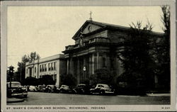 St. Mary's Church and School Postcard