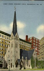 Christ Church, Monument Circle Postcard