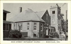 Main street Methodist Church Postcard