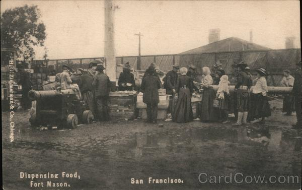 Dispensing Food at Fort Mason San Francisco California