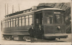 United Railroads streetcar Mission 1512, conductors Postcard