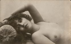 French Nude, Topless Woman Postcard