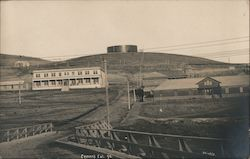Photo of town, Cement Postcard