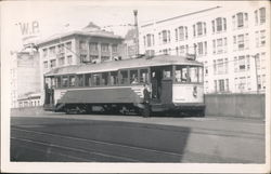 Streetcar on streets of San Francisco Postcard