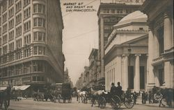 Market St and Grant Ave Postcard