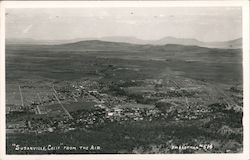 Aerial View of Susanville, California Postcard