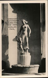 American Womanhood Statue at New York World's Fair Postcard