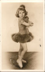Photo of Patty in Skating Costume Postcard