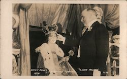 Queen Agnes and Mayor Rolph, California Diamond Jubilee 1925 Postcard