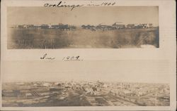 View of Coalinga in 1900 and 1909 Postcard
