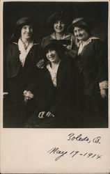 Portrait of Four Women Postcard