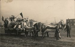Patriotic Horse Drawn Parade Float Postcard