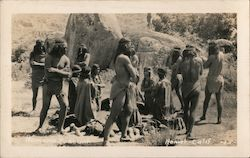 Ramona Pageant Indian circle dance Postcard