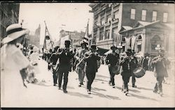 Band in Parade Postcard