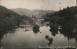 Russian River from Guerneville Bridge Postcard