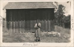 Alice and Bill the Dog Postcard