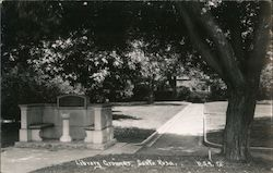 Library Grounds Postcard