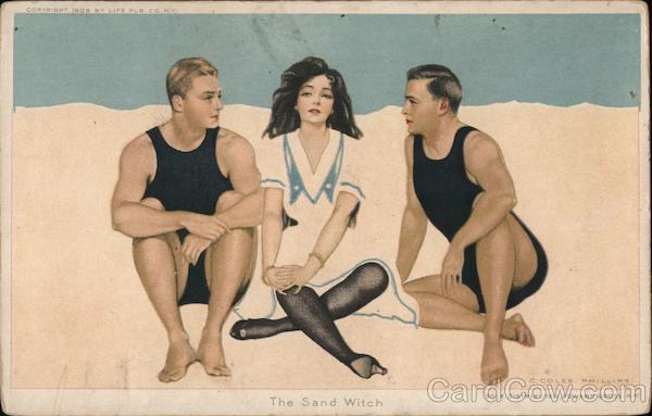 The Sand Witch Fade Away C. Coles Phillips Artist Signed
