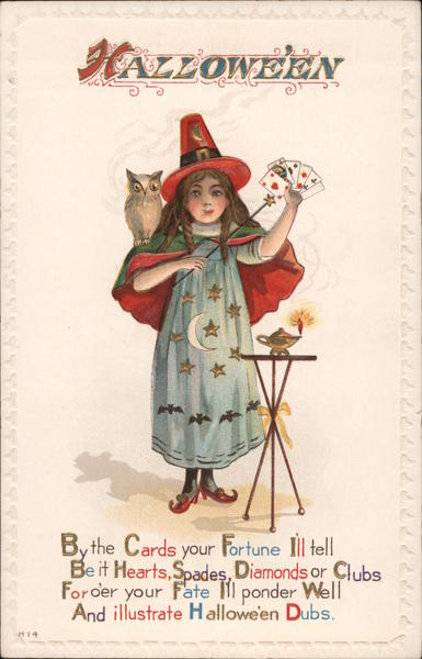 Hallowe'en -- Girl Dressed up as a Magician or Fortune Teller
