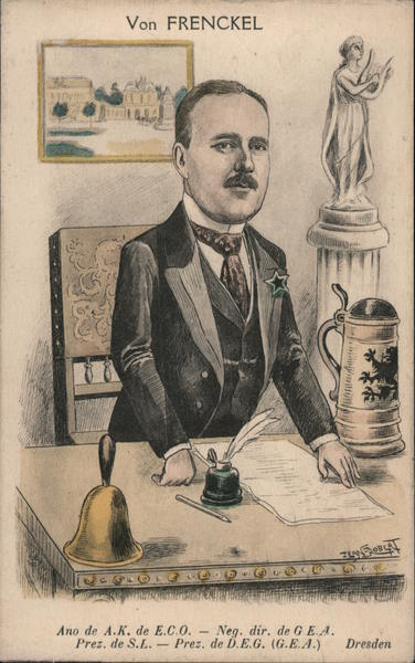 Caricature of Von Frenckel Political