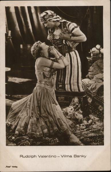 Rudolph Valentino and Vilma Bánky Celebrities