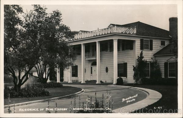 Residence of Bing Crosby North Hollywood, Cal. Brookwell Photo