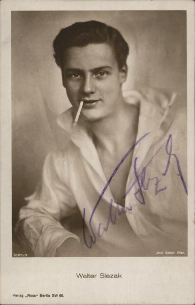 Walter Slezak, Autographed Actors