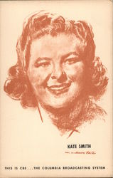 Kate Smith CBS Broadcasting Postcard