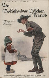 Help the Fatherless Children of France Postcard