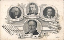 Rare: Taft DESERVES A SECOND TERM Postcard