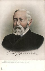 Benjamin Harrison, 23rd president of the United States Postcard