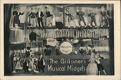 The Glassner's Musical Midgets Postcard
