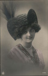 Woman in a Hat Postcard