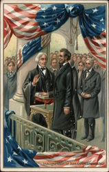 Inauguration of Abraham Lincoln Postcard
